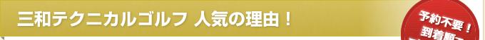 三和テクニカルゴルフ 人気の理由!
